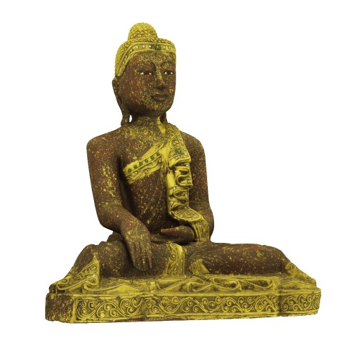 Seated Buddha in Lacquered and Gilded Wood - ED Edition