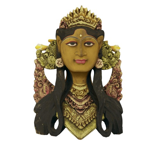 Balinese Janger Dancer Mask Wood Sculpture - ED Edition