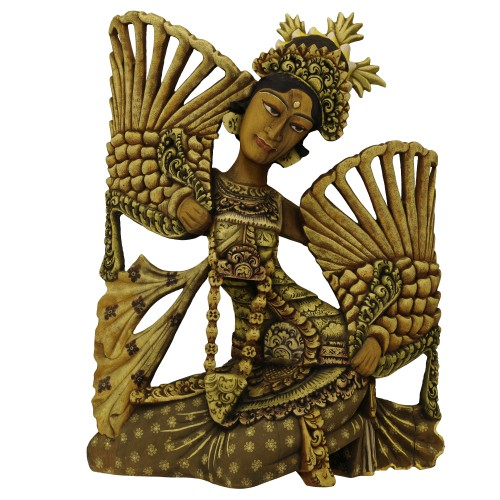 Balinese Legong Dancer Wood Sculpture - ED Edition